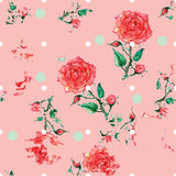 Prickprydnad med rosor Royaltyfri Foto