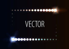 Prickram med ljusa effekter vektor illustrationer