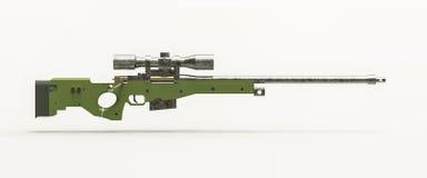 Prickskytt Rifle Arkivfoton