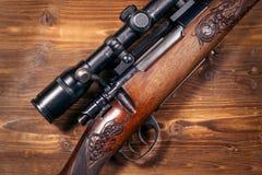 Prickskytt Rifle royaltyfri fotografi