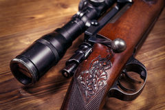 Prickskytt Rifle royaltyfria bilder