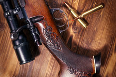 Prickskytt Rifle arkivbild