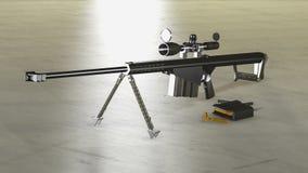 Prickskytt Rifle för M107 Barett Arkivbilder