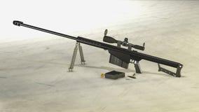 Prickskytt Rifle för M107 Barett Arkivfoton