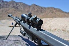 PrickskyttBarrett gevär, 0 50 kaliber, m82a1 Royaltyfria Bilder