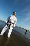 Pride. A pride judo fighter standing in a river royalty free stock photos