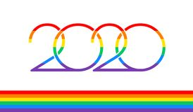 Free Pride 2020 Text Logo And Rainbow Flag For Pride Events In 2020 - Vector Illustration Stock Photo - 163065200