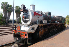 Pride of Africa train about to depart from Capital Park Station in Pretoria, South Africa. PRETORIA, SOUTH AFRICA- SEPTEMBER 9: Steam  train about to depart from Royalty Free Stock Photo