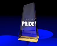 Pride Award Trophy Winner Proud Feelings Royalty Free Stock Photography