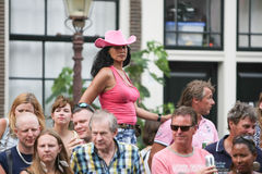 Pride Canal Parade Amsterdam alegre 2014 Fotos de Stock
