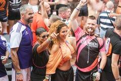 Pride Canal Parade Amsterdam alegre 2014 Imagens de Stock