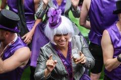 Pride Canal Parade Amsterdam alegre 2014 Foto de Stock Royalty Free