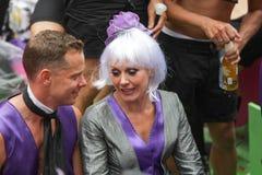 Pride Canal Parade Amsterdam alegre 2014 Imagem de Stock Royalty Free