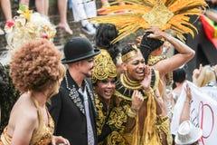 Pride Canal Parade Amsterdam alegre 2014 Fotos de Stock Royalty Free