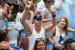 Pride Canal Parade Amsterdam alegre 2014 Imagens de Stock Royalty Free