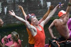 Pride Canal Parade Amsterdam gai 2014 Photographie stock libre de droits