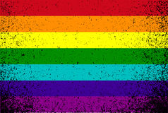 Pride color flag grunge illustration design Stock Image