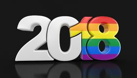 Pride Color New Year alegre 2018 ilustração royalty free
