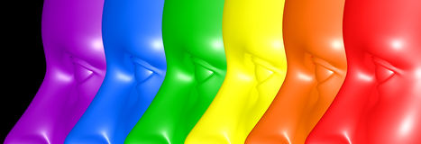 Gay Pride colors eyes Stock Photography