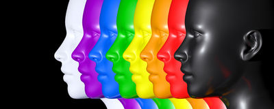 Pride colors eyes Royalty Free Stock Photography