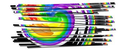Pride colors stripes. Pride colors in a film strip Stock Photos