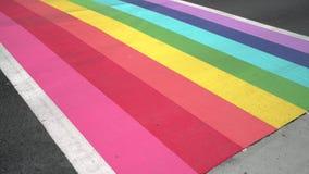 Pride Crosswalk Traffic, Vancouver 4K, UHD stock video