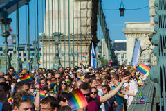 Pride Day (Gay Parade) in Budapest, Hungary Stock Photos