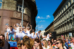Pride Day (Gay Parade) in Budapest, Hungary Stock Photo
