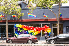 Pride decoration in San Francisco Stock Photography