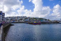 Pride of Exmouth colourful colourful houses Brixham Devon Englan Royalty Free Stock Photography