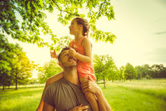 Pride fatherhood with daughter Royalty Free Stock Photography