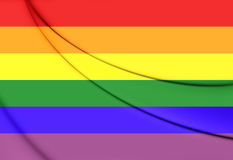 Pride Flag alegre Fotos de Stock Royalty Free