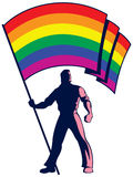 Pride Flag Bearer Royalty Free Stock Photo