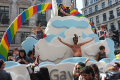 Pride Float alegre Londres 2013 Foto de Stock Royalty Free