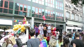 Pride France alegre, Strasbourg video estoque