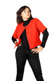 Pride girl in red-black clothes Stock Photos