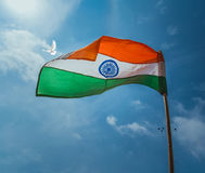 THE PRIDE OF INDIA. The National Flag of India Royalty Free Stock Photography