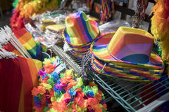 Pride LBGT festival merchandise stall Royalty Free Stock Photo