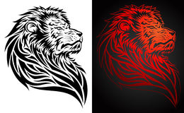 Pride Lion Tattoo. Illustration of a pride lion in tattoo/tribal style Stock Image