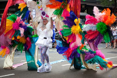 Pride London 2009 - colorfull costume Stock Image