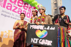 Pride March dans l'Inde Photos stock