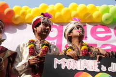 Pride March in India Stock Photography