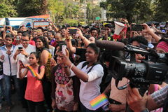 Pride March in Mumbai Royalty Free Stock Image