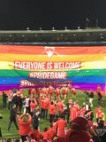 Pride Match AFL in Sydney stock photo