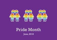Pride Month-Vektor Lizenzfreie Stockfotografie