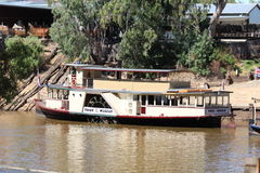 Pride of the Murray Paddlesteamer at Echuca Moama on The Murray Stock Photos