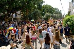 Pride parade 3. Pride and israeli falg from the pride parade in Tel Aviv stock photo
