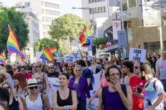 Pride Parade alegre, Chipre Imagem de Stock Royalty Free