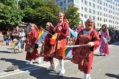 Pride Parade alegre 2013 em Éstocolmo Imagens de Stock Royalty Free