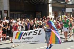 Pride Parade alegre 2013 em Éstocolmo Fotografia de Stock Royalty Free